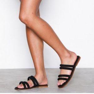 Topshop Black Fever Strappy Sandals